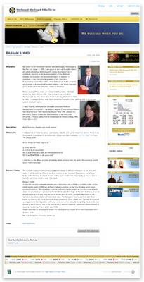An Advisor Profile Page
